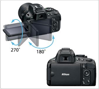 Nikon D5100 - monitor LCD cu unghi variabil