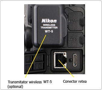 Nikon D4 - Adaptor wireless WT-5